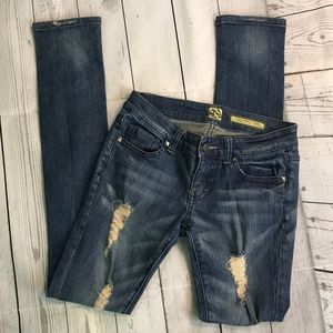Flying Monkey Distressed Skinny Jeans Size 25